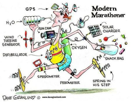 Cartoon Marathoner